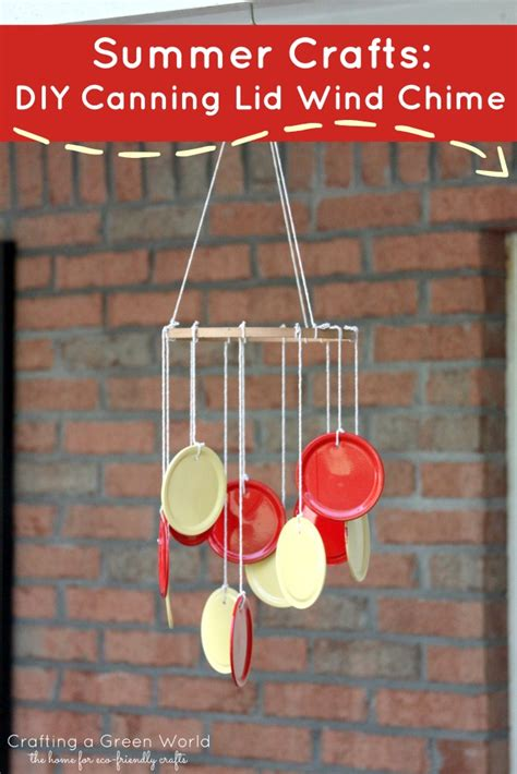 summer crafts diy canning lid wind chime crafting