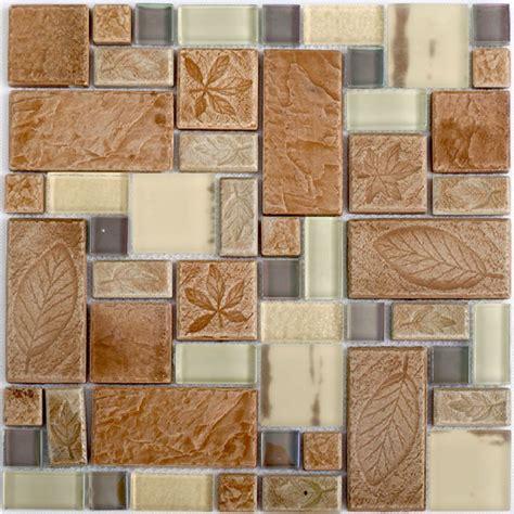beige kitchen tiles beige glass tile kitchen backplash leaf pattern ceramic 1576