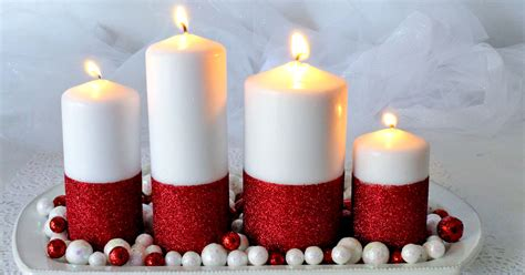 glitter candles easy diy christmas decorations  sisters