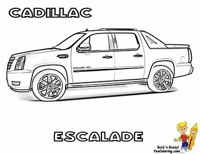 Cars Coloring Pages Cool Escalade Sheets Cadillac