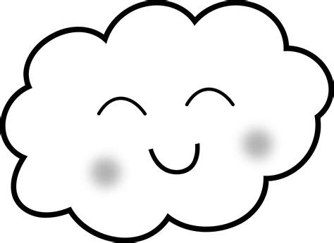 Happy Cloud Clipart