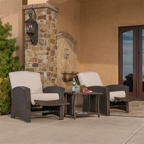 santa fe 3pc recliner set mission furniture