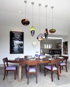 Suspension Salle à Manger : salle manger luminaire salle manger design suspension d co moderne table en bois chaise ~ Teatrodelosmanantiales.com Idées de Décoration