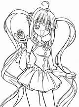 Manga Coloring Printable Kawaii sketch template