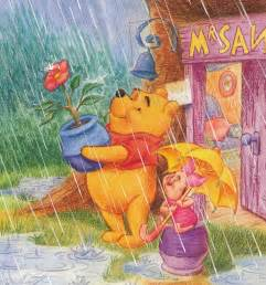 Pooh and Piglet Rain