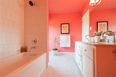 coral bathroom serene coral combinations mint grey cream