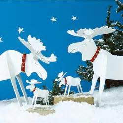 christmas moose holiday woodworking plans for fun yard decor this old house