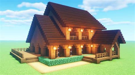 minecraft tutorial     spruce wood house  tutorial youtube