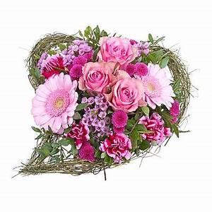 Herz Mit Blumen : blumenstrau rosa herzstrau von valentins auf ~ Frokenaadalensverden.com Haus und Dekorationen