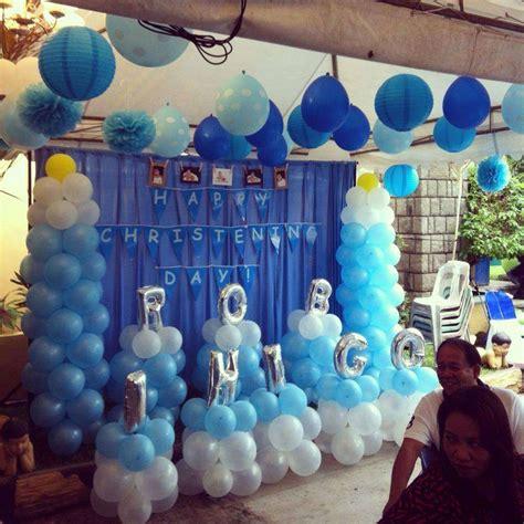 baby boy blue baptism party ideas photo    catch