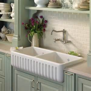 rohl shaws original 2 bowl fireclay fluted apron kitchen sink traditional kitchen sinks