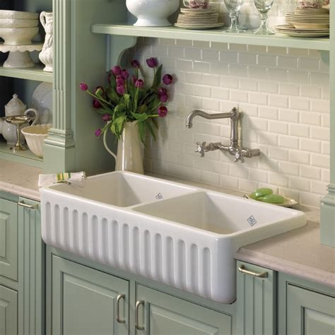 Fireclay Double Country Kitchen Sink  House Furniture