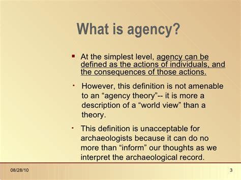 bureau definition agency theory in archaeology presentation