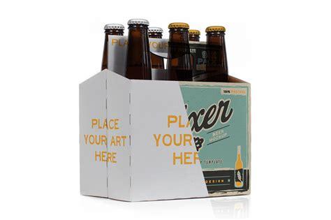 pack beer bottle carrier mock  product mockups