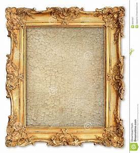 Photo Avec Cadre : cadre d 39 or avec la toile criqu e vide pour votre photo photo stock image 39537957 ~ Teatrodelosmanantiales.com Idées de Décoration