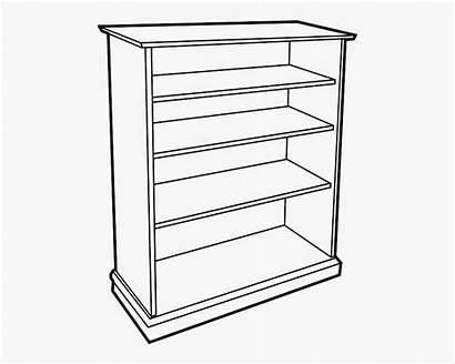 Shelf Clipart Cartoon Drawing Cabinet Drawer Bookshelf