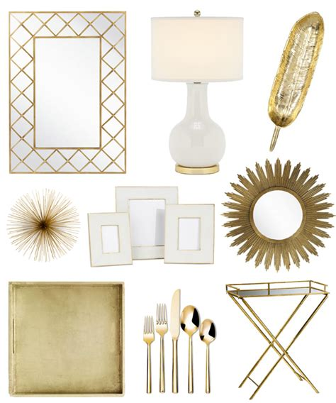 Gold Home Décor  Bright And Beautiful  Chicago Fashion