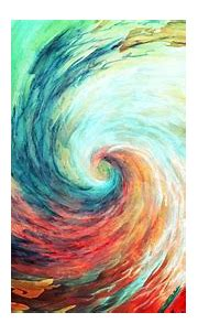 Free download abstract paintings multicolor spiral artwork ...