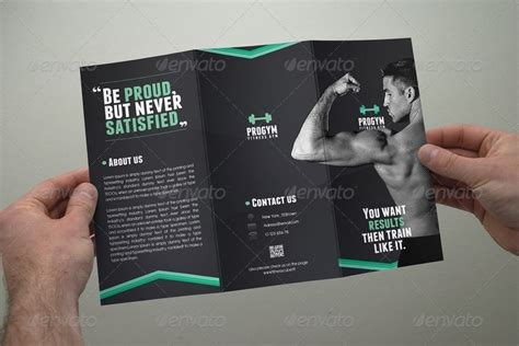 Fitness Brochure Design by Fitness Brochure Tri Fold By Coxsumon Graphicriver