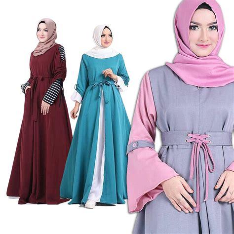 baju gamis setelan gamis wanita dress wanita koleksi busana muslim