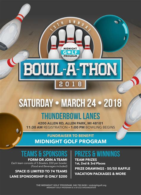 bowl  thon  midnight golf program