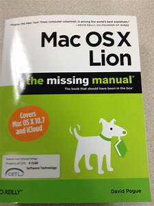 The Missing Manual  Mac Osx Lion Isbn  9781449397494