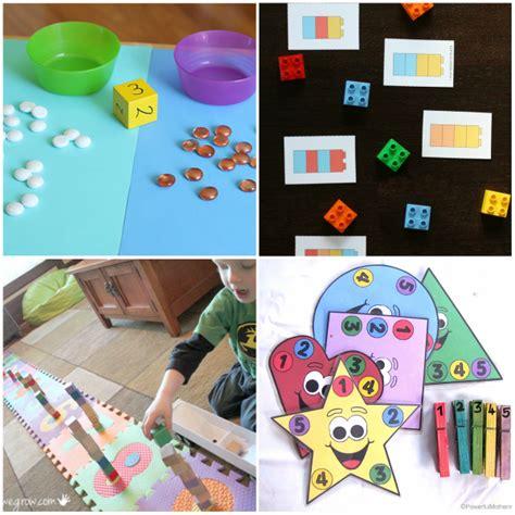 40 preschool math activities that are 155 | Preschool Math Activities Collage 5