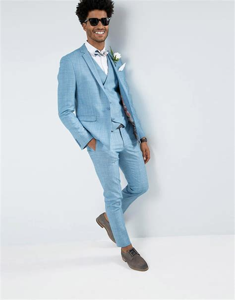 light blue suit how to wear a bold colored suit on your wedding day chic