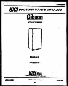 Gibson Fv16m2dsfc Upright Freezer Parts