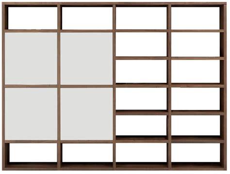 composition murale  portes asymetriques  tiroirs chene