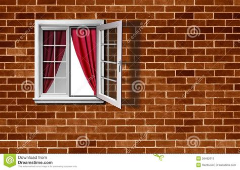 open brick wall open window on brick wall royalty free stock image image