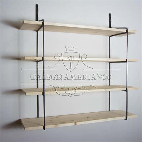 librerie mensole mensole legno grezzo