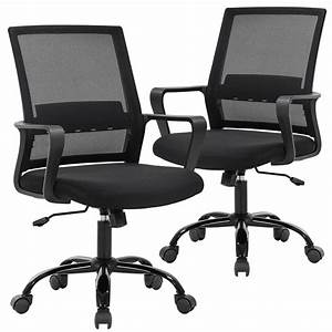 Office, Chair, Desk, Chair, Computer, Chair, Swivel, Rolling, Executive, Lumbar, Support, Task, Mesh, Chair