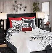 Red Black Grey White Bedroom by Girls Bedding Sets Flower Printed Decorative King Size Cotton Hotelfamily