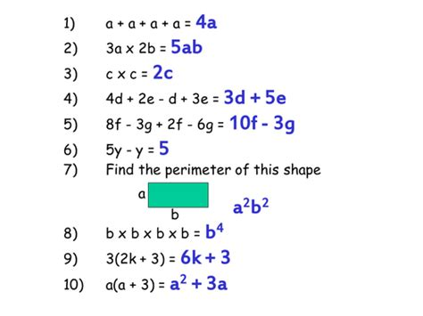 misconceptions in algebra starter ks3 ks4 by