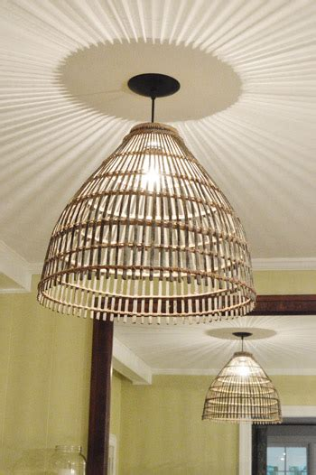 basket light fixture how to turn a basket into a pendant light house