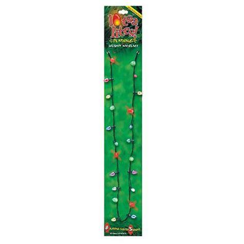 Flashing Christmas Tree Lights Necklace flashing christmas lights necklace the green head