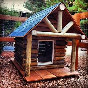 log cabin dog house fingers crossed pinterest log With log cabin dog house large