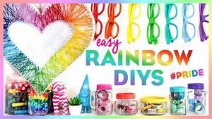 4 Easy Rainbow DIYs ~ #PRIDE ~ Bring Color to Your Room