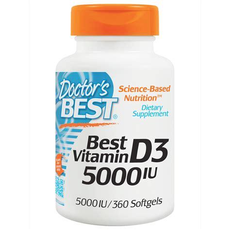 vitamin d l amazon doctor 39 s best best vitamin d3 5000 iu 360 softgels