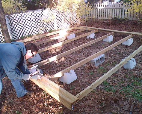 floating deck footings