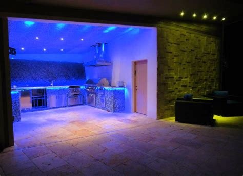 Led Light Room Decor by Awesome Blue Led Light Kitchen Design Combined With Green