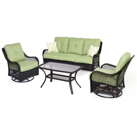 hanover orleans 4 patio seating set with avocado