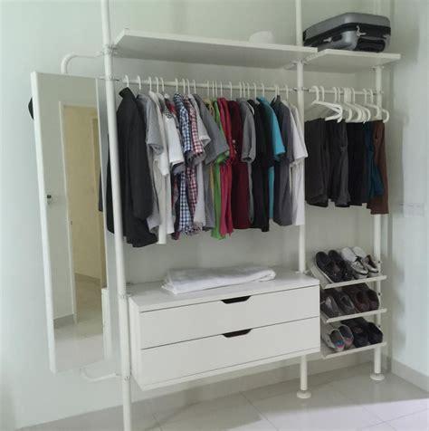 white bedside ikea stolmen open concept wardrobe system moving