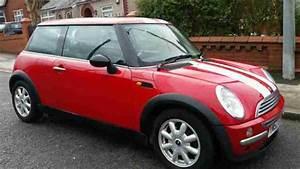 Mini 2003 Cooper 1 6 Red With White Stripe  Car For Sale
