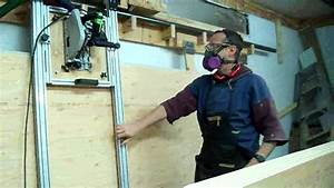 RIP Ray Sliding-carriage Panel saw first try - YouTube