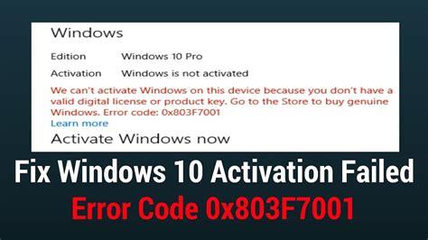 fix windows  activation failed error code xf youtube