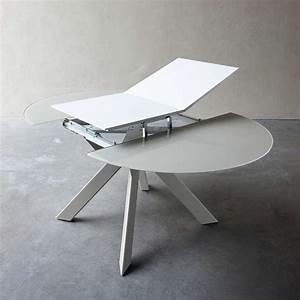 Console Murale Suspendue : table ronde design extensible en verre et mtal vale with ~ Premium-room.com Idées de Décoration