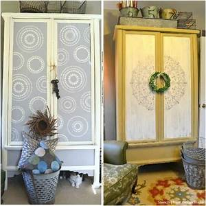 20 diy cabinet door makeovers with furniture stencils With kitchen cabinets lowes with wall art ideas for bedroom diy