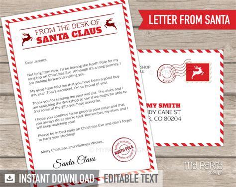 printable letter  santa kit  envelope template
